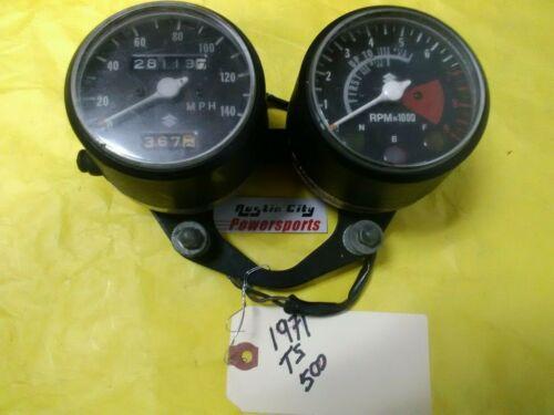 71 Suzuki T500 speedometer tach meter tachometer