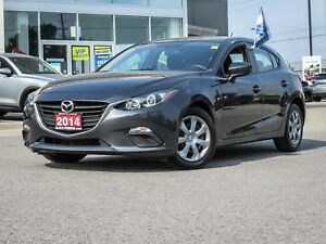 2014 MAZDA3 GX SPORT HATCHBACK METEOR GREY 6 SPD. MANUAL