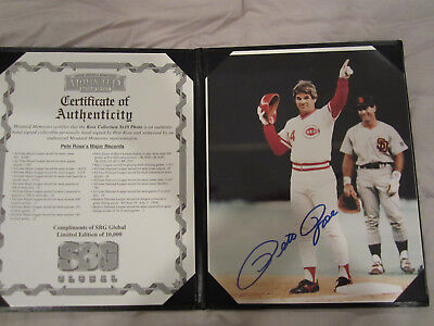 The Collection Compliments of SBG Global Pete Rose Limited Edition Signed