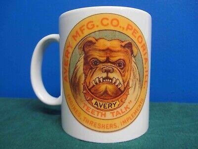 Avery Threshers Bull Dog Logo Round Coffee Mug