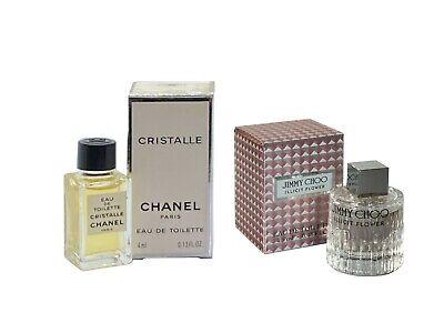 Miniature CHANEL Cristalle 4ml EDT Jimmy Choo Illicit Flower 4.5ml EDT Women