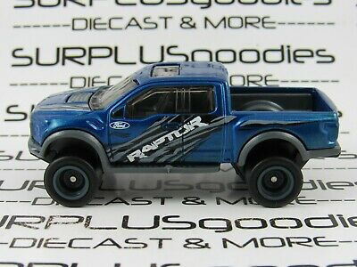 Hot Wheels LOOSE Blue 2017 '17 FORD F-150 SVT RAPTOR Custom SUPER w/Real Riders