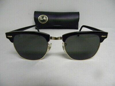 Vintage B&L Ray Ban Clubmaster Wayfarer Set Black G-15 W0365 49mm Sunglasses (Rayban Clubmaster Sunglasses Usa)