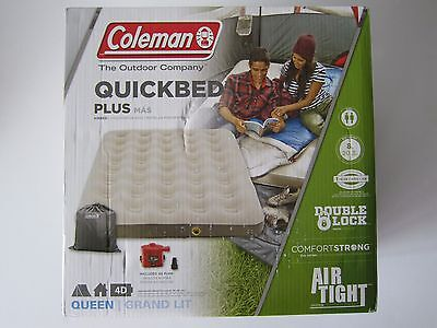 4d Pump Queen - COLEMAN 2000021138 QUEEN SINGLE HIGH FLOCKED QUICKBED WITH 4D PUMP New