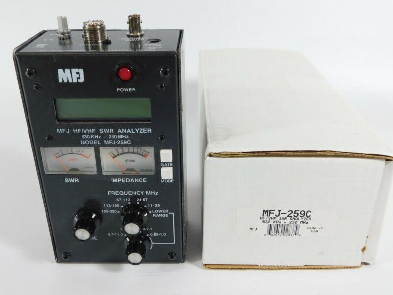 MFJ-259C HF VHF Ham Radio SWR Antenna Analyzer w/ Box (perfect)