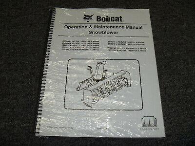 Bobcat Sb200 Sb240 Sbx240 Snowblower Owner Operator Maintenance Manual