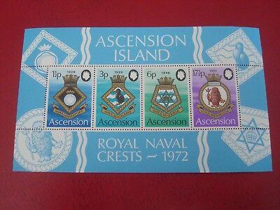 ASCENSION ISLAND - 1972 ROYAL NAVY - MINISHEET - UNMOUNTED MINT MINIATURE SHEET