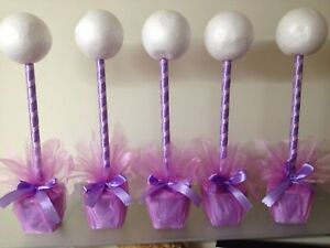 5 x hand crafted sweet tree kits table center sweet table weddings partys lilac