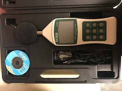 Extech 407750 Sound Level Meter Digital Wrs232 1282