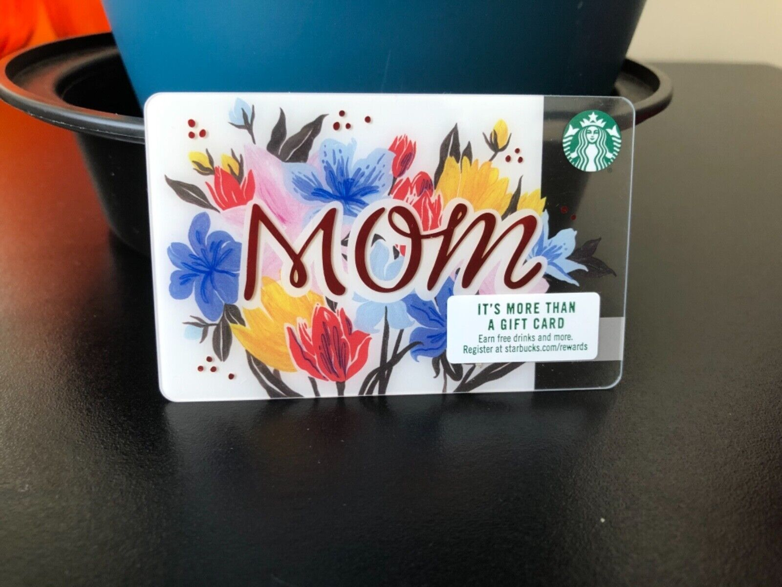 New Reloadable MOM With Flowers Starbucks Gift Card Empty  - $3.25