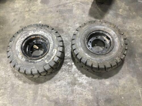 Lot Ot 2 Titan 6.50-10 Industrial Foam Filled Forklift Tire Rim Read! #T249E8PR6