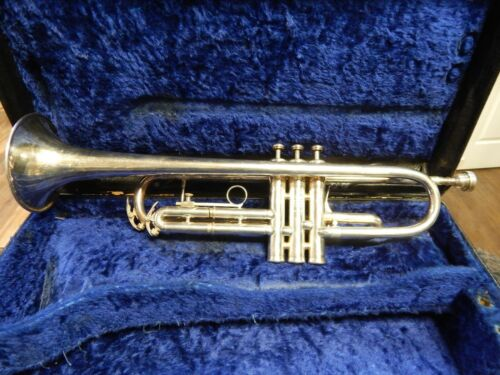 1970-1975 King Silver Flair Trumpet with original case