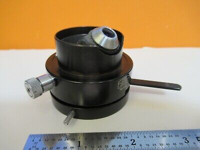 Carl Zeiss Germany Condenser Iris Polarizer Microscope As Pictured 1e-c-17