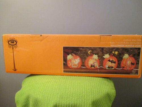 Halloween Mantle Pumpkin Light Set
