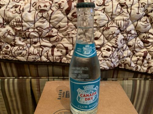 Canada Dry Club Soda ACL Bottle Full Rare (Make an offer)