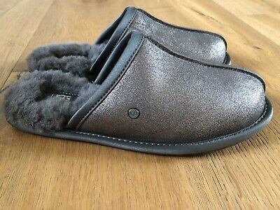NWB Ugg Australia Womens Pearle Sparkle Slippers Size 7 Gunmetal Grey (Gunmetal Grey Color)