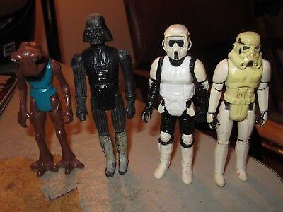 kenner star wars Stormtrooper Darth Vader Biker Scout Hammerhead figures empire