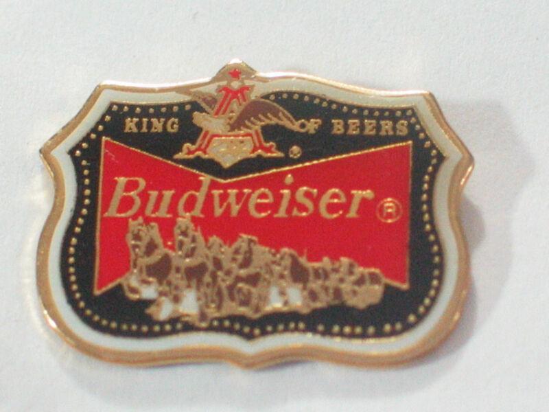 Budweiser King of Beer Vintage Beer Pin    Clydesdale  Horse Team