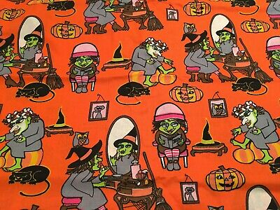 Quick Halloween Treat (Halloween Witch Getting Ready For Trick Or Treat - Cotton Fabric By The)