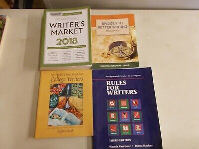 4 WRITERS COLLEGE MARKET RULES FOR BETTER WRITING DEVELOPMENTAL EXERCISES