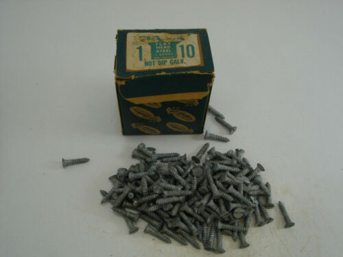 "Wood Screws Flat Head Slotted Galvanize Steel #10 X 1"" Southern Works 25 PCS"
