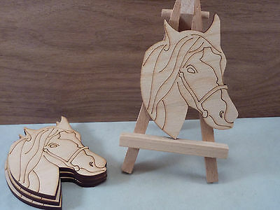 Wooden Horse head shape craft blank, card and Plaque making, crafts, pyrography