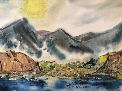 🔥 Antique Mid Century Modern California Impressionist Painting, Catalina Island