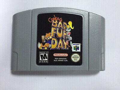 Conker's Bad Fur Day Game Cartridge For Nintendo N64 PAL EUR Version comprar usado  Enviando para Brazil