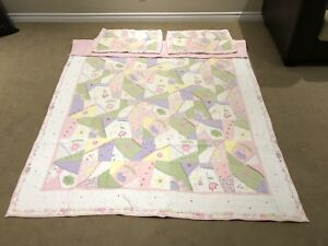 Double quilt and pillow girl pottery barn pink