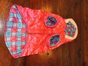DOG COAT (SMALL DOG) PINK WITH HOOD Croydon Charles Sturt Area Preview