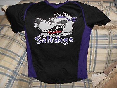 2cc1ef30e33 Saltdogs black baseball jersey  7 sz S