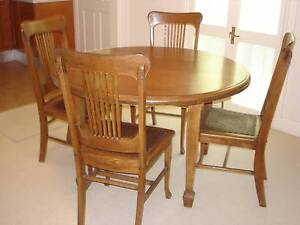 Beautiful Round Timber Dining Table and Four Chairs Bronte Eastern Suburbs Preview