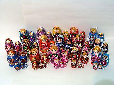 Russian Hand Painted Nesting Doll Matryoshka 5 pcs Piece Sets Made in (Matryoshka 5 Piece)