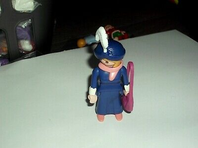 PLAYMOBIL  VICTORIAN FEMALE  FIGURE, WITH HAT WITH FEATHER AND HANDBAG    V.G.C.
