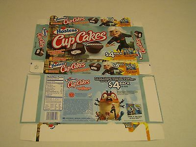 Hostess  Interstate Brands  Cup Cakes Monsters Vs Aliens Empty Collectible Box