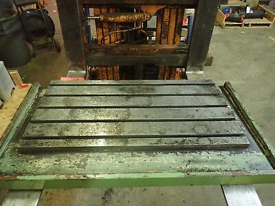 47.5 X 25.75 X 2.5 Steel T Slot Table Cast Iron Layout Weld Fixture5 Slot