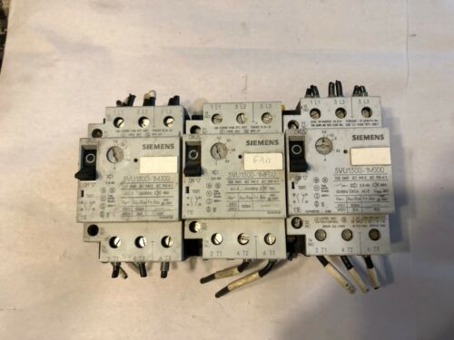 USED SIEMENS MOTOR STARTER PROTECTOR 3VU1300-1MJ00, 3 POLE, **LOT OF 3**