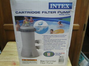 intex krystal clear cartridge filter pump above grd. pools. firm