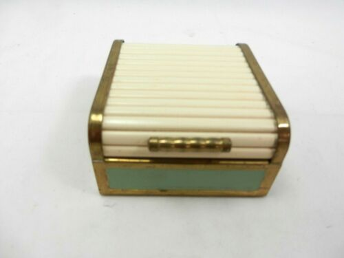Face Powder Box with Roll Top Lid, Vintage, Rare
