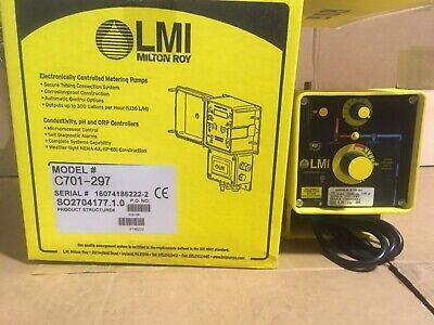Lmi Metering Pump C701-297 1.3 Gph 300 Psi Stainless Steel Pulse Control