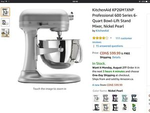 Brand new KitchenAid Professional 600 Series, Stand Mixer