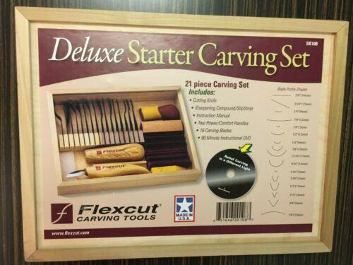 FLEXCUT SK108 DELUXE STARTER CARVING SET   NEW