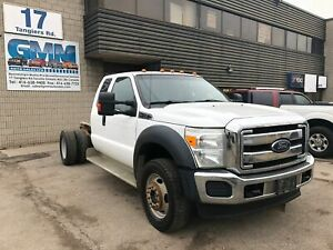 2012 Ford F-450 XLT Extended Cab and Chassis 4X4 6.8L V10 Gas