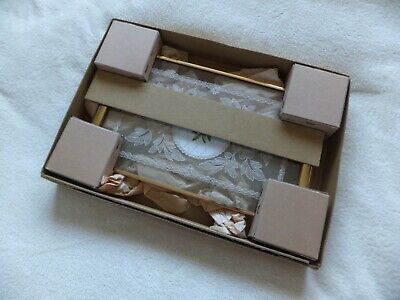 Vintage High Quality Petit Point & Lace Vanity / Dressing Table Tray Boxed
