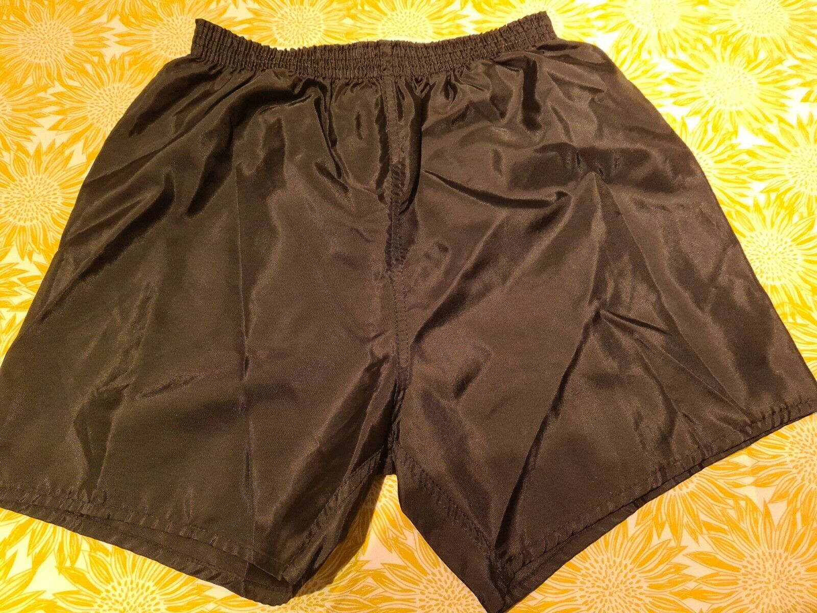 Nylon Vintage School Sports Shorts Size 34in 86cm Black