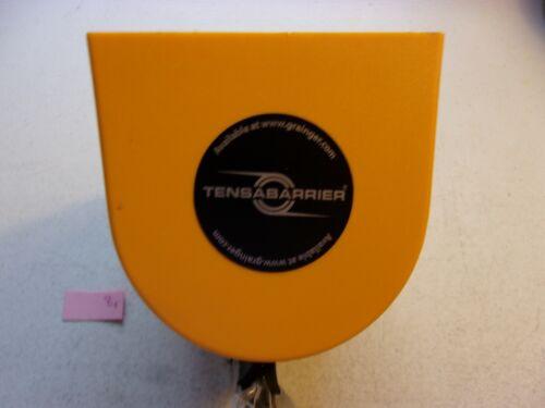 "TENSABARRIER RETRACTABLE BELT BARRIER 30FT 2"" WIDE YELLOW/BLACK CHEVRON (179)"