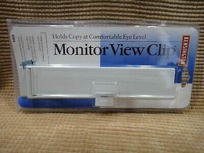 Kensington Monitor View Clip - Document Holder - 62054 - New