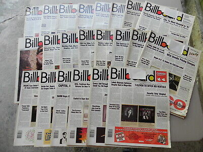 1986  BILLBOARD Magazine Lot of 22 Weeks you get 22 Magazines all have label