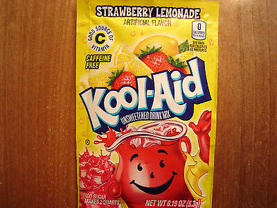 10 Kool Aid Drink Mix STRAWBERRY LEMONADE citrus popsicle fun flavor vitamin C