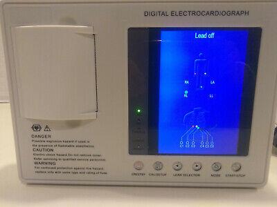 Portable Digital 7 Color Lcd 3-channel 12-lead Ecg Machine Ekg System